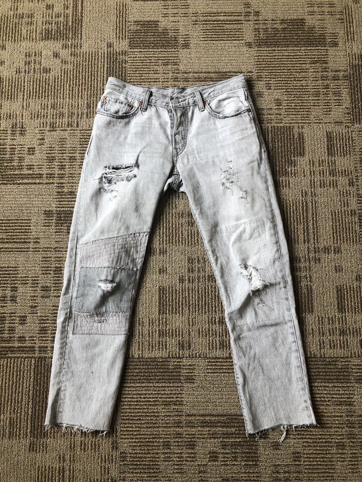 Levis 501 Red Tag Distressed Jeans Size 29 - image 1