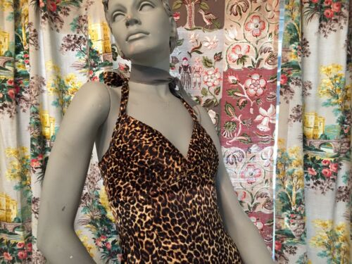 Pinup Couture Leopard Wiggle Halter Dress