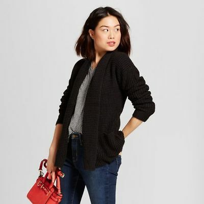 2019 original enjoy big discount hot-selling cheap NWT A New Day Women's Size XS Black Textured Open Layering Cardigan Sweater  490181309076   eBay