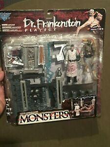 Todd-McFarlane-039-s-Toys-Monsters-Dr-Frankenstein-Play-Set-1998-NEW-MIB