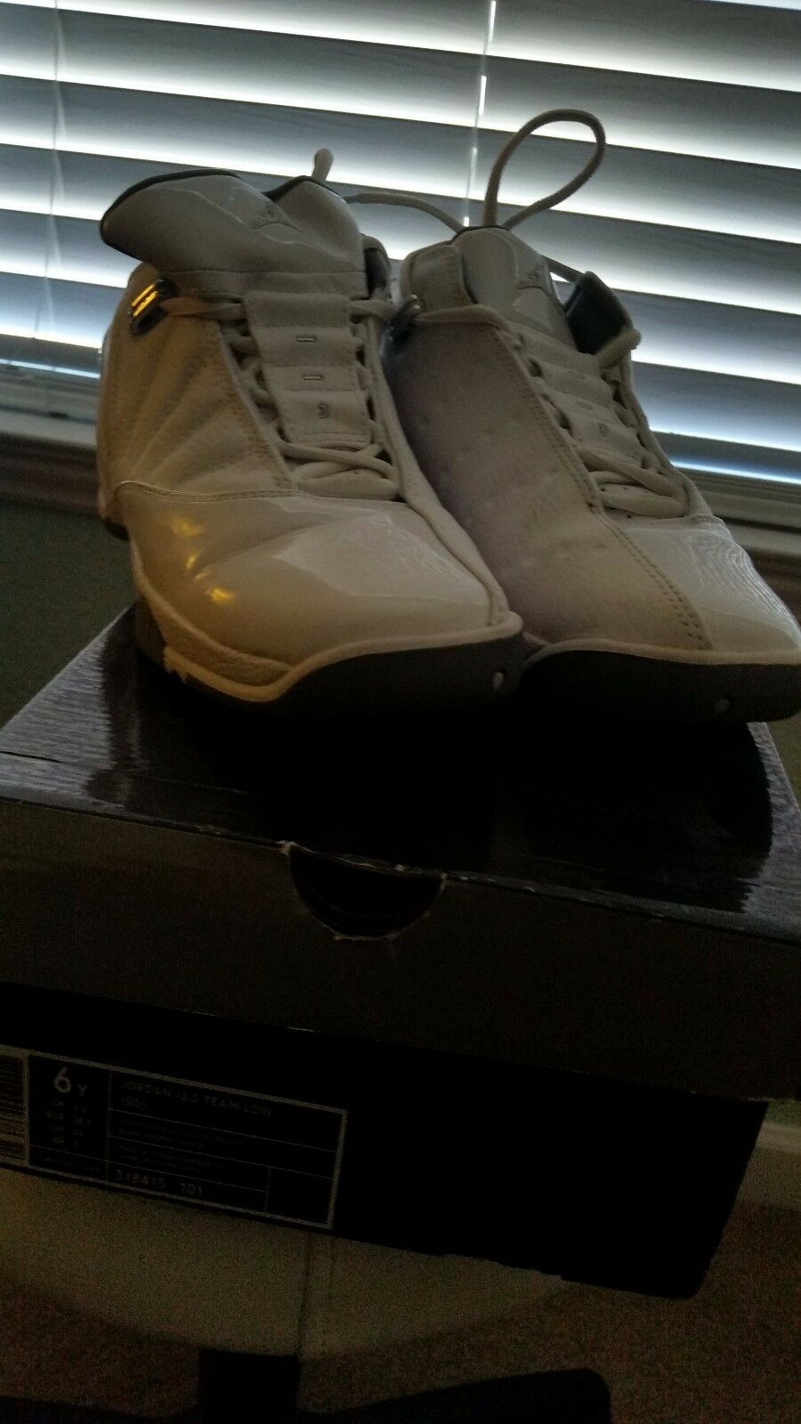 Jordan 12.5 Team Stealth Low (GS) White/Metallic Silver Stealth Team Size 6Y 8ff458