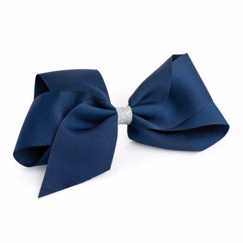 Accessories Large Glitter Centre Ribbon Style Bow Hair Beak Clip Slide Grip