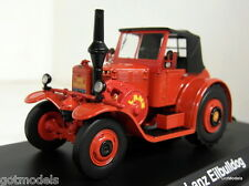 Schuco 1/43 Scale 02861 Lanz Eilbulldog closed red diecast model tractor