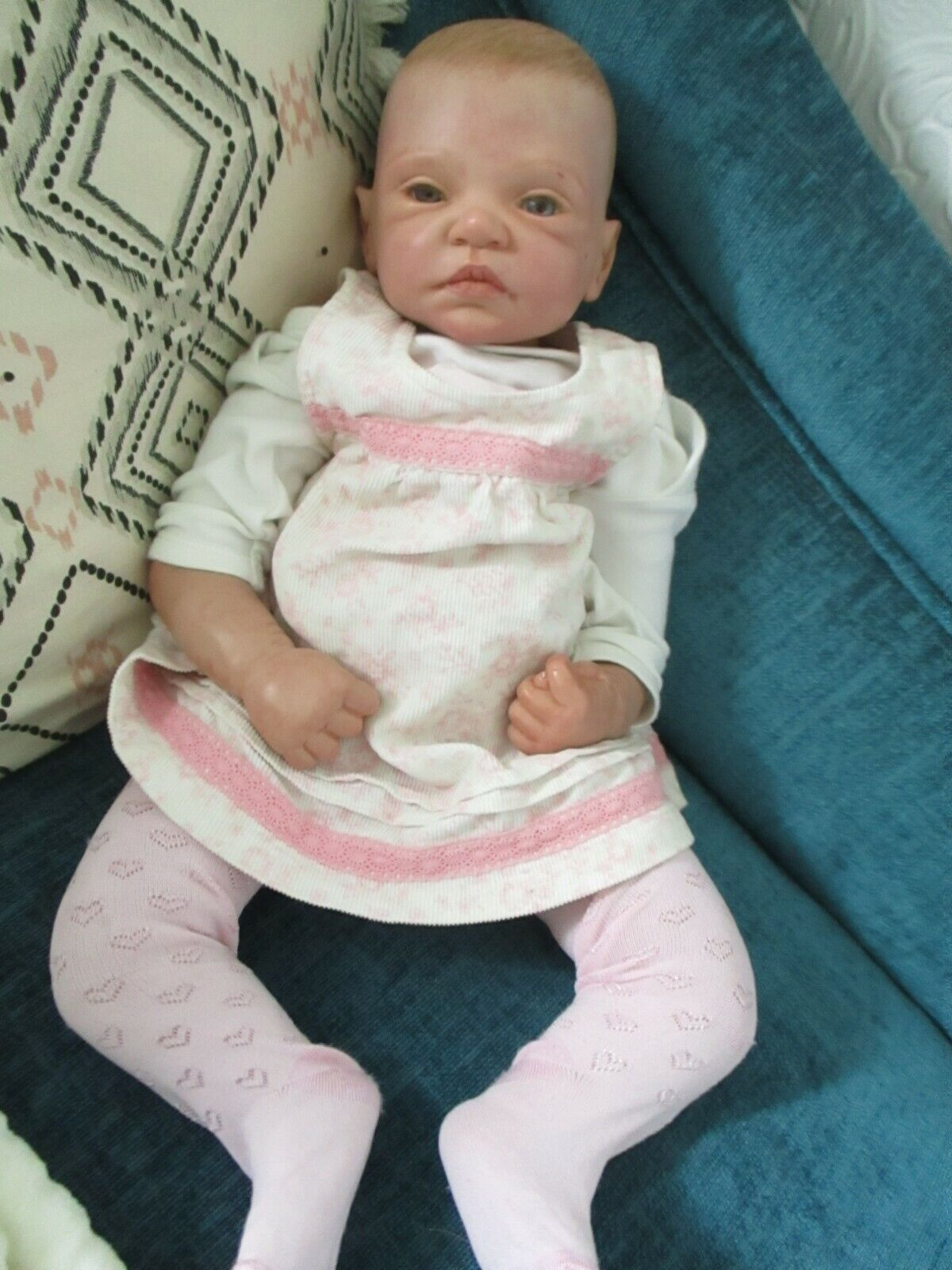 """Reborn Doll Romie Strydom 20 Inches Painted Hair """"With Clothes"""" PRICE REDUCED"""