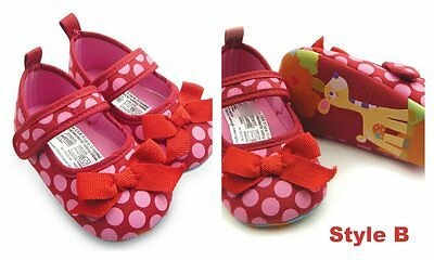 Bebé Infantil Niña pre-walker Cochecito Zapatos ducha Regalo Encaje Flor Polka Dot