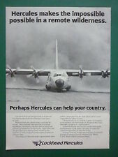 10/1981 PUB AVION LOCKHEED C-130 HERCULES CARGO AIRCRAFT ORIGINAL PHOTO ADVERT