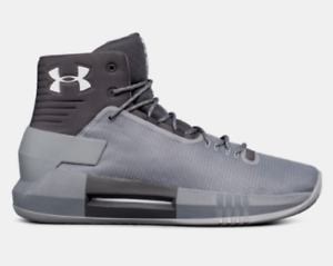 a383a221cf9a Mens Under Armour UA Drive 4 TB Basketball Shoes Grey Gray White ...