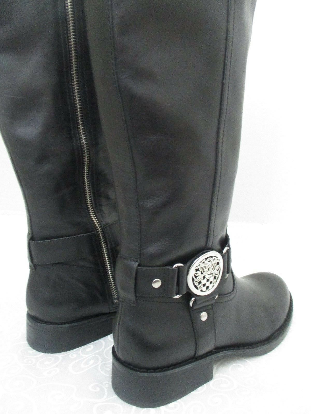 VINCE CAMUTO FARROW noir LEATHER LEATHER LEATHER KNEE HIGH bottes Taille 8 1 2 M - NEW a308fb