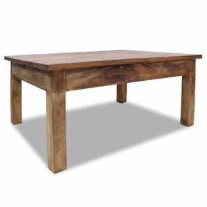 Details About Solid Reclaimed Wood Coffee Table 38 6 Couch End Side Living Room