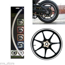"""SILVER"" Reflective Rim Stripe Decorative sticker for Car & Bike - Self Adhesive"
