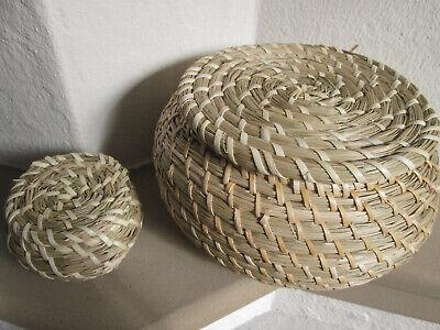 Seegras Aufbewahrungskörbe Faltbox Spielkiste mit Deckel für Balkon Holz