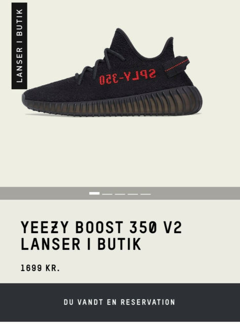 Sneakers, Adidas Yeezy 350 v2, str. 42,  Core black / red,…
