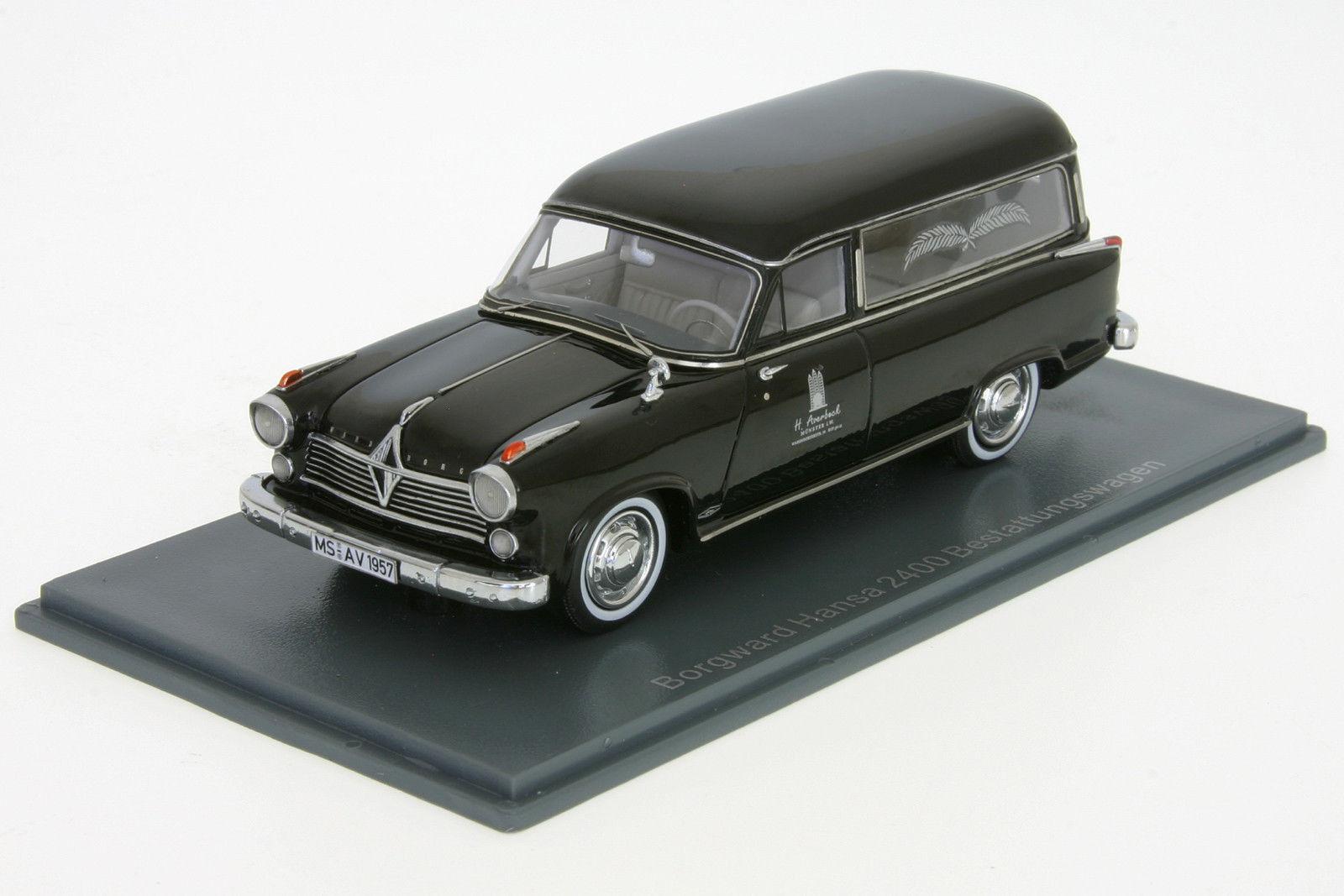 Borgward Hansa 2400 inhumation Voiture Bj. 1957 1 43 NEO 49520 Nouveau neuf dans sa boîte
