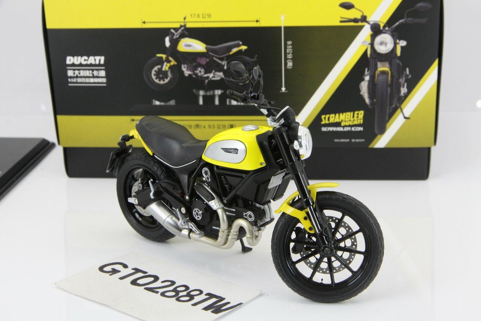 TSM 1 12 Ducati Scrambler Icon 2015 jaune (True Scale TrueScale) Taiwan Exclusive