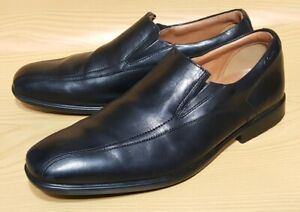 Clarks Cushion Plus Black Leather Loafers Mens Comfort Shoes