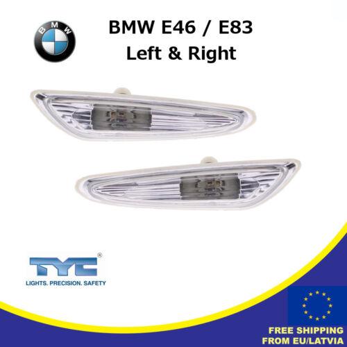 Set Of Side Turn Indicators R/&L BMW E46 E83 Seitenblinker Weiß Rechts /& Links