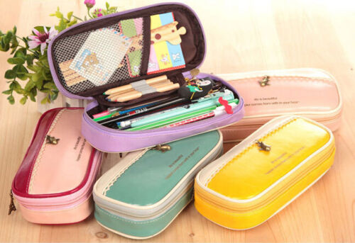 Big Large Capacity Pen Pencil Case Box School Student Stationery Bag Makeup Bag