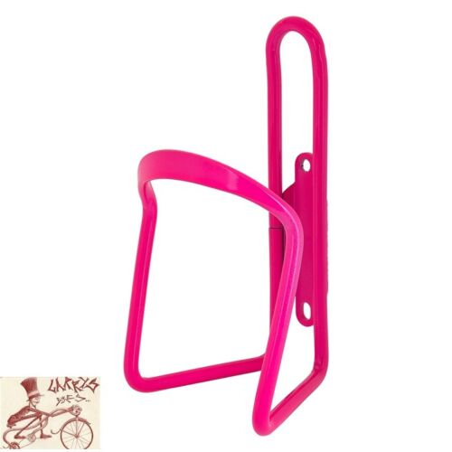 SUNLITE ALLOY 6mm NEON PINK WATER BOTTLE CAGE WITHOUT MOUNTING HARDWARE
