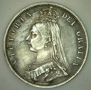1887-Great-Britain-1-2-Crown-Silver-Coin-Half-Crown-Almost-Uncirculated-Silver