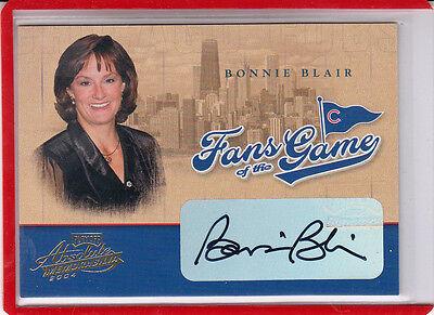 """Bühne Bescheiden 2004 Playoff Fans Of The Game Bonnie Blair """" Olympic Gold """" Autogramm Sammeln & Seltenes"""