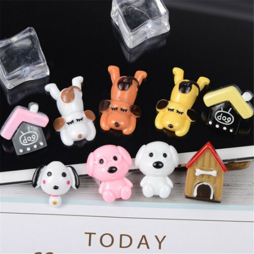 2-3cm Flatback Resin Cabochons Dog and House Mixed Kinds Accessories 10 pcs