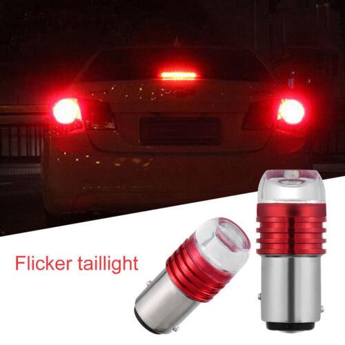 2X Red 1157 BAY15D P21//5W Strobe Flash Light Brakes Blink Led Tails Reverse Bulb