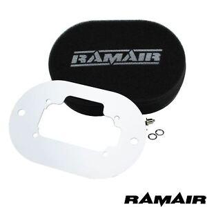 RAMAIR Carb Luftfilter mit Grundplatte Weber 32/36 Dgev 25mm Bolzen Auf