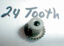 "1960's Vintage Crown Gear 24 tooth for 1/8"" Set Screw NOS slot car Eldon Revell"