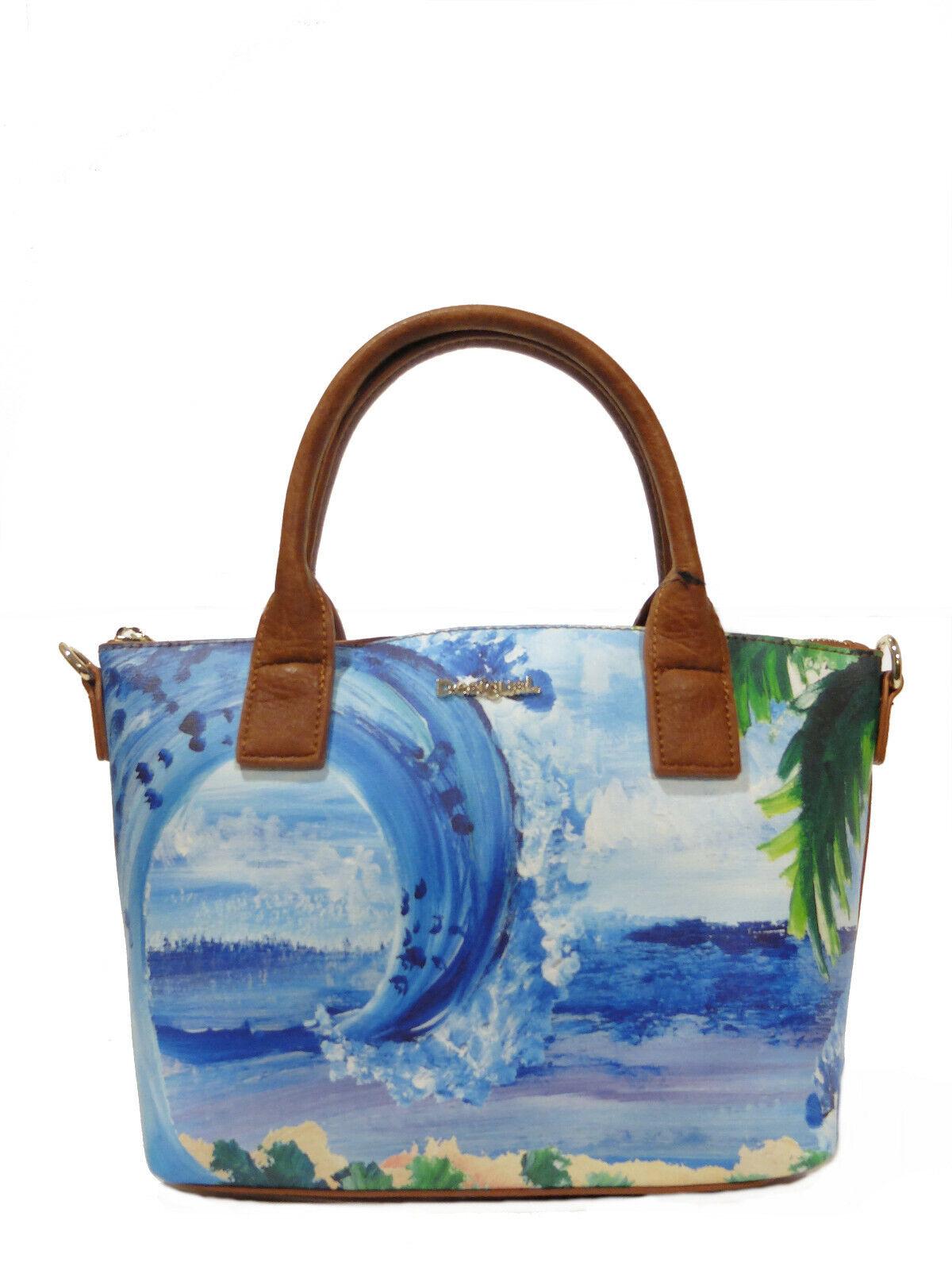 Desigual Handtasche Tasche Schultertasche Schultertasche Schultertasche Bols Landscape Ocean Gela, NEU | Won hoch geschätzt und weithin vertraut im in- und Ausland vertraut  07174c