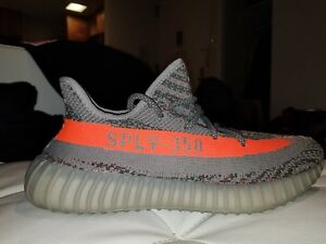 separation shoes a8822 55930 Details about ADIDAS YEEZY BOOST 350 V2 BELUGA 1.0 SIZE 9 GREY SOLAR RED  100% AUTHENTIC