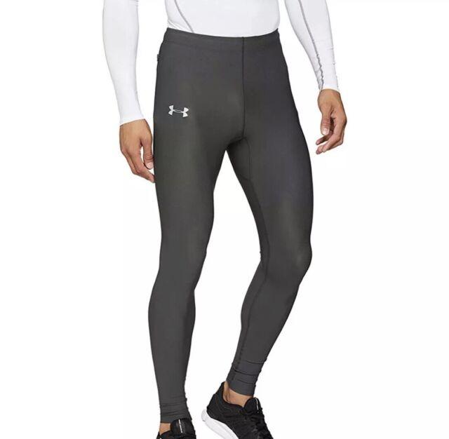 obturador atleta Coherente  Under Armour Run True Leggings Mens Running Compression UA 1301016 Gray S  for sale online | eBay