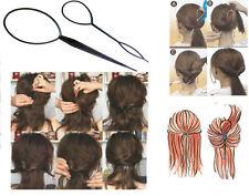 2er SET Topsy Tail Dreher Frisurenhilfe Hair Twister Schlinge Schlaufe Styler