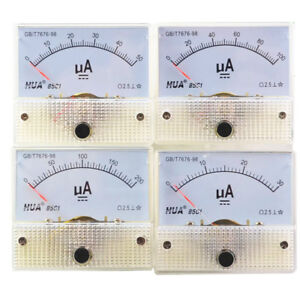 DC-Analog-Pointer-Current-Meter-Panel-50uA-100uA-200uA-300uA-500uA-Ammeters