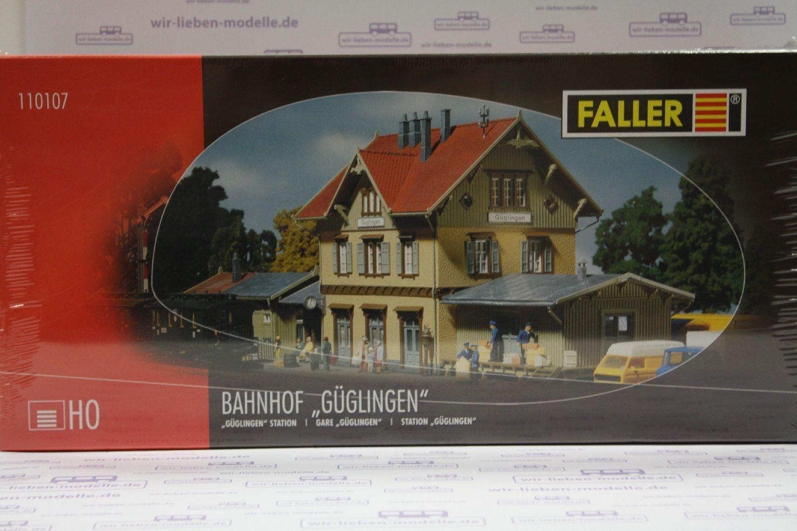 Faller 110107, Bahnhof Güglingen, neu, OVP, Haltepunkt, DB, Bahn  | Angemessener Preis