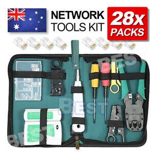 Analyzer Network Cable Tool Kit LAN Crimper Down Wire Stripper Cat5 6 RJ45 BAG
