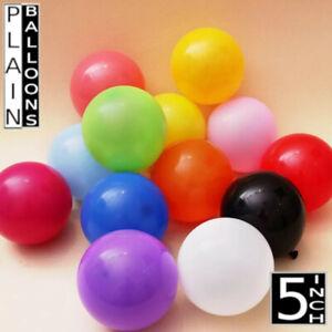10-100-Plain-Latex-Ballons-5-034-Non-Helium-Fete-Anniversaire-Mariage-Bapteme