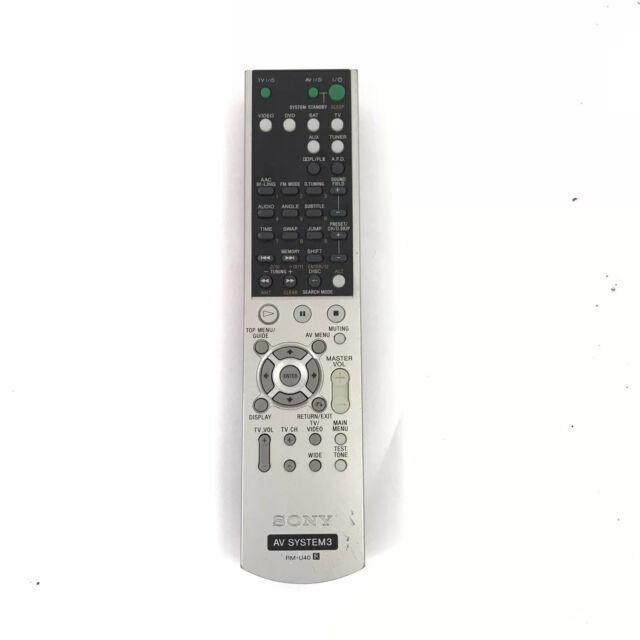 Sony Rm U40 Av System 3 Remote Control Original Genuine A303 Achetez Sur Ebay