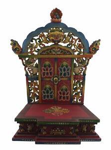 Tempio Tibetano Altare Buddista 3D Supporto Statua Budda Bodhisattva 50cm 5416