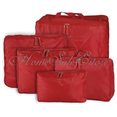 5x Travel Luggage Storage Bag Clothes Tidy Organizer Pouch Suitcase Handbag Case