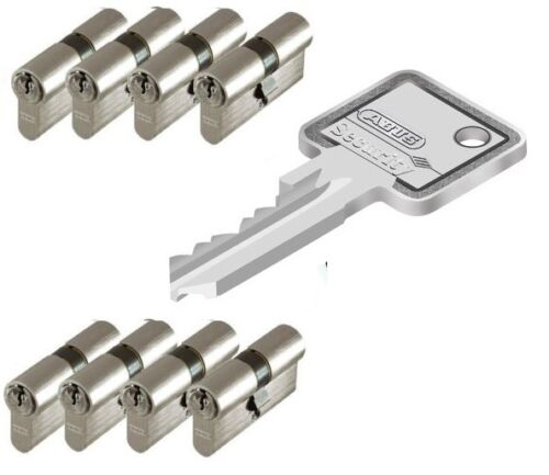 8er Set Abus C73 Profilzylinder Schließzylinder Schließanlage  Gleichschließend