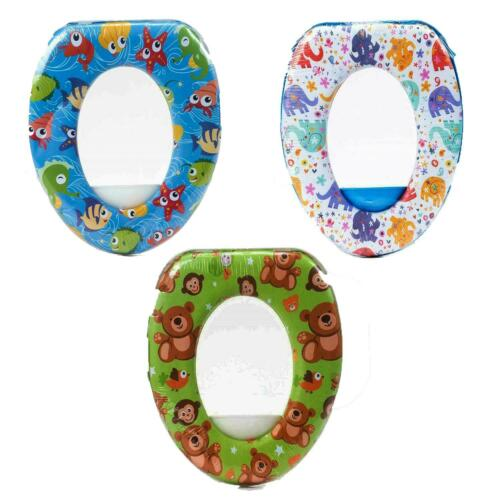 Potty Training Padded Assorted Toilet Seat Baby Soft Padded Pattern Design New