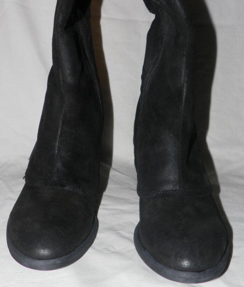 DONALD J PLINER DEVI 2 WOMEN'S RIDING LEATHER BLACK VINTAGE SUEDE & LEATHER RIDING Stiefel Sz. 5 a351da