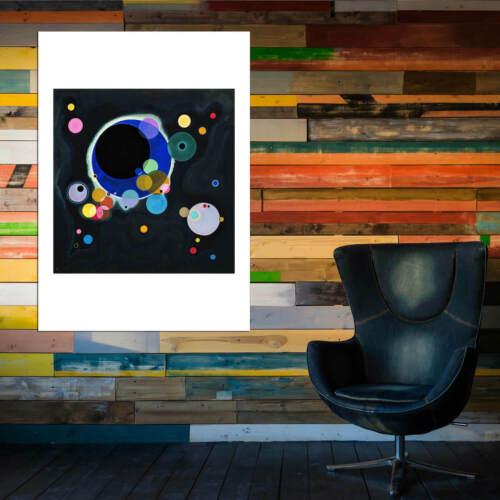 Wassily Kandinsky Several Circles Wall Art Poster Print
