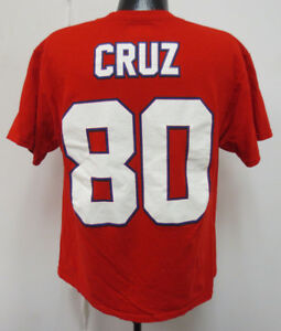 new product 9d6bd f0feb Details about NEW YORK GIANTS LARGE VICTOR CRUZ SHIRT PRINTED MENS NFL  FOOTBALL PREOWNED USED