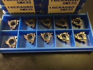 SUPER 10p 16ER AG60 SMX35 CNC lathe Threading Turning   Carbide Inserts Blades