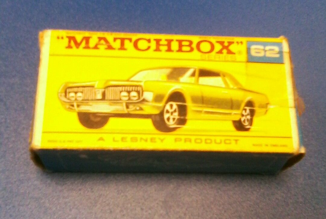 Vintage matcbox  MERCURY COUGAR  62  vente en ligne