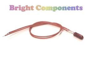 5x Red Grain of Wheat Bulb / Lamp : 12V : 3mm : Prewired : 1st CLASS POST