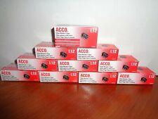 120 Acco Mini Binder Clips Steel Wire 14 Cap 12w Blacksilver 10 12 Ct 72010