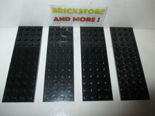 x8 Choose Quantity x1 Lego Plaque Plate 4x12 12x4 3029 Black//Noir