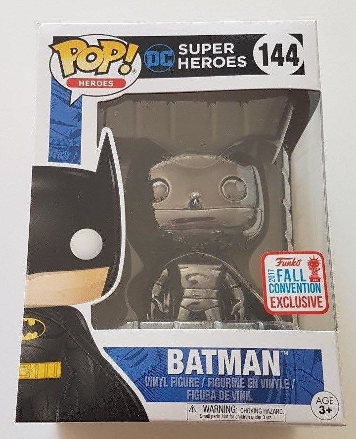 Funko Pop Heroes 144 schwarz Chrome Batman 2017 NYCC Fall Convention Exclusive